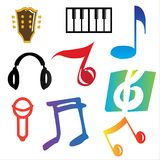 Vector Music elements Stock Photo