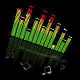 Vector Music Equaliser Graph Royalty Free Stock Photos