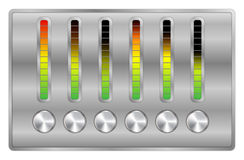 Vector music equalizer Stock Photos