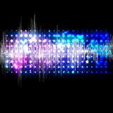 Vector music equalizer wave Stock Images