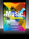 Vector music flyer design Royalty Free Stock Photo