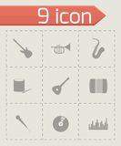 Vector music icon set Royalty Free Stock Images