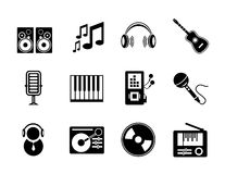 Vector music icons Royalty Free Stock Image
