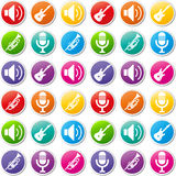 Vector music icons Stock Photography
