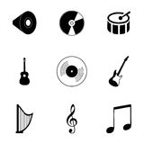 Vector music icons set Royalty Free Stock Images