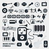 Vector Music Icons Set Royalty Free Stock Photo