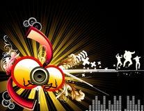 Vector music illustration Stock Photography