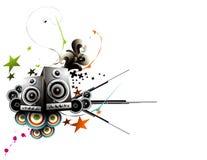 Vector music illustration Royalty Free Stock Image