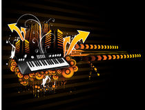 Vector music illustration Royalty Free Stock Photo