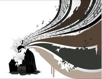 Vector music illustration. Vector abstract sound and music illustration Stock Image