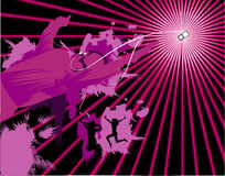 Vector music illustration. Vector abstract sound and music illustration Stock Photo