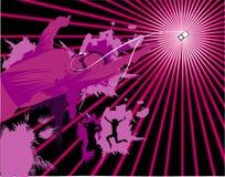 Vector music illustration. Vector abstract sound and music illustration Stock Illustration