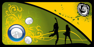 Vector music illustration Royalty Free Stock Image