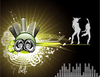 Vector music illustration Royalty Free Stock Images
