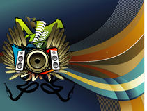 Vector music illustration Royalty Free Stock Photography
