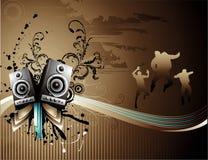 Vector music illustration Stock Photos