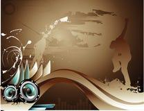 Vector music illustration Stock Image