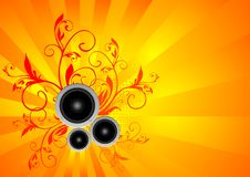 Vector music illustration with speakers Stock Photos