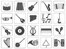 Vector Music Instrument Icons Set Stock Photo