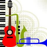 Vector music instruments Stock Images
