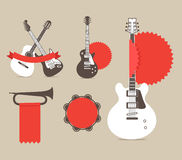 Vector music instruments Royalty Free Stock Photos