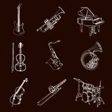 Vector Music Instruments stock illustration
