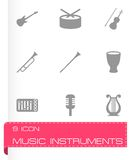 Vector music instruments icon set Royalty Free Stock Photos