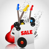 Vector Music Instruments Sale Stock Photography