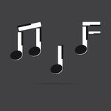 Vector of music Note stuff in piano key. Royalty Free Stock Photos