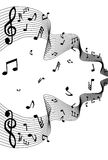 Vector music notes Stock Photo