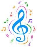 Vector music notes colorful logo Stock Photos