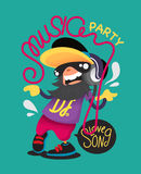 Vector music party character design. Stock Photography
