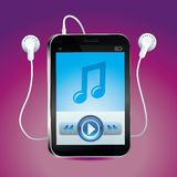 Vector music player with  play button Royalty Free Stock Photo