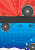Vector music poster Stock Photography