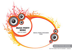 Vector Music Poster Design 2 Stock Photography