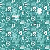 Vector music seamless pattern Royalty Free Stock Image
