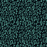 Vector music seamless pattern with icons Stock Images
