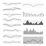 Vector music sound waves vector illustration