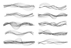 Vector music sound waves Stock Image