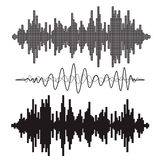 Vector music sound waves set. Stock Photography