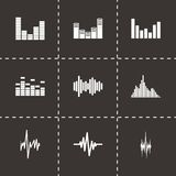 Vector music soundwave icon set royalty free illustration