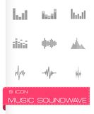 Vector music soundwave icon set Stock Photo