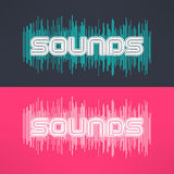 Vector music stylish background with equalizer. Cool tshirt design.  Royalty Free Stock Image