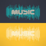 Vector music stylish background with equalizer. Cool tshirt design.  Royalty Free Stock Photo