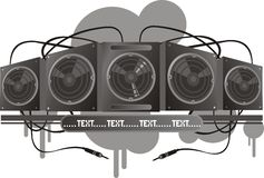 Vector music system Royalty Free Stock Images