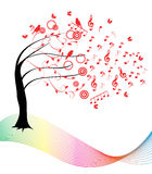 Vector music tree Royalty Free Stock Photos