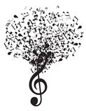 Vector Music Tree Royalty Free Stock Photo