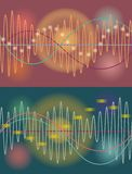 Vector music volume abstract background Stock Images