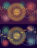 Vector music volume abstract background Stock Photography