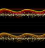 Vector music wave. Music wave- red, orange, black- vector Stock Photos